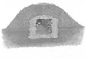 Querschnitt eines Grabhügel aus der Urnenfelderzeit um 1000 v. Chr.