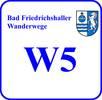 Schild Wanderweg W 5