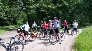 Gruppe Radfahrer
