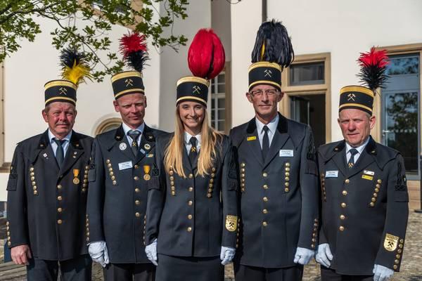 Gruppenfoto der Salzbergwerk Gästeführer