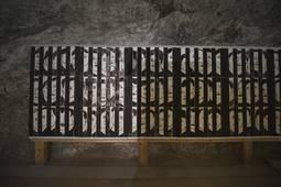 Die Ausstellung, die an die Opfer der Zwangsarbeit unter Tage erinnert.