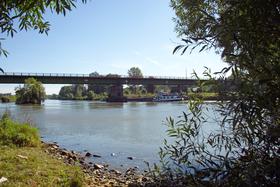 Wunderschöner Blick auf den Neckar von Jagstfeld aus