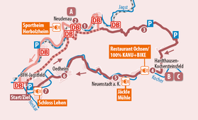 Übersichtskarte der Radtour KJ3