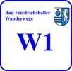 Schild Wanderweg W 1
