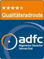 Logo vom adfc vier Sterne Radweg