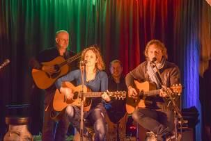 Marc, Lobo, Jana und Dirk beim Konzert