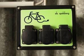 Eine E-Bike Ladestation