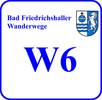 Schild Wanderweg W 6