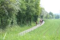 Radfahrer auf dem Jagsttalradweg