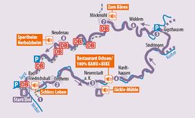 Übersichtskarte der Tagestour KJ 1