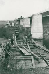Bau der Salzbahnbrücke