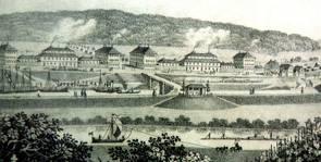 Der Pavillon zwischen Neckar und Salinengebäuden von 1830