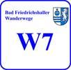 Schild Wanderweg W 7
