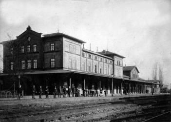 Der Jagstfelder Bahnhof im Jahr 1909