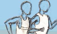 zwei gezeichnete Läufer